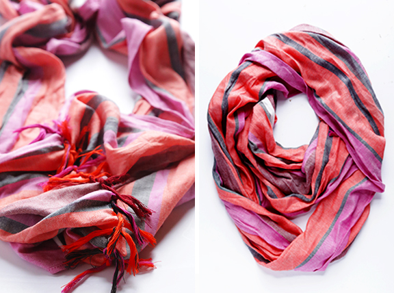 Picture Of how to turn a regular scarf into infinity scarf  4