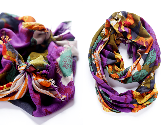 Picture Of how to turn a regular scarf into infinity scarf  7