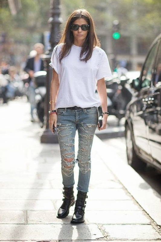 Picture Of how to wear distressed denim 21 stylish ideas  12