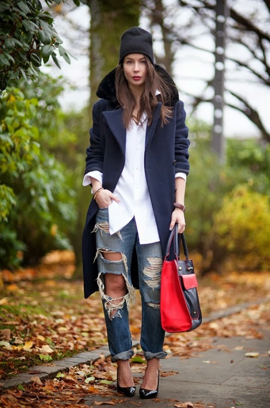 Picture Of how to wear distressed denim 21 stylish ideas  14