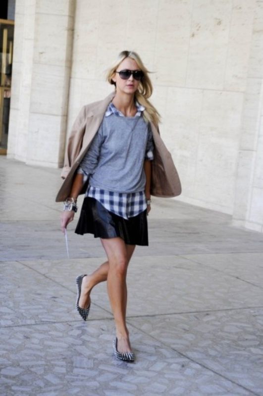 How To Wear A Leather Skirt: 23 Great Looks To Get Inspired ...
