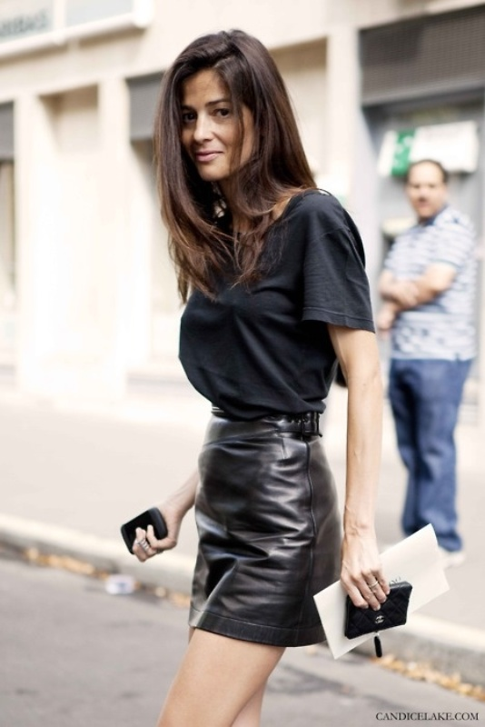 Picture Of how to wear leather skirt 23 great looks to get inspired  13
