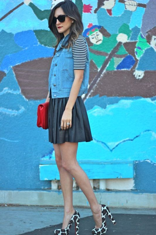 Picture Of how to wear leather skirt 23 great looks to get inspired  18