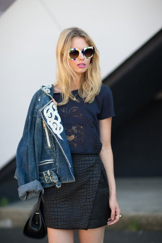 Picture Of how to wear leather skirt 23 great looks to get inspired  20