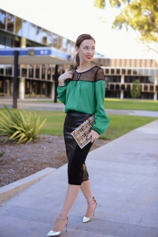Picture Of how to wear leather skirt 23 great looks to get inspired  21