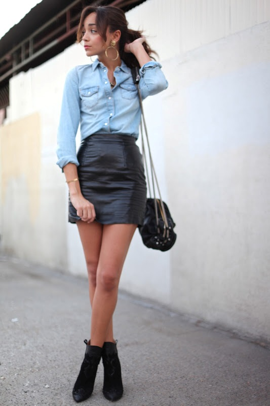 Picture Of how to wear leather skirt 23 great looks to get inspired  23
