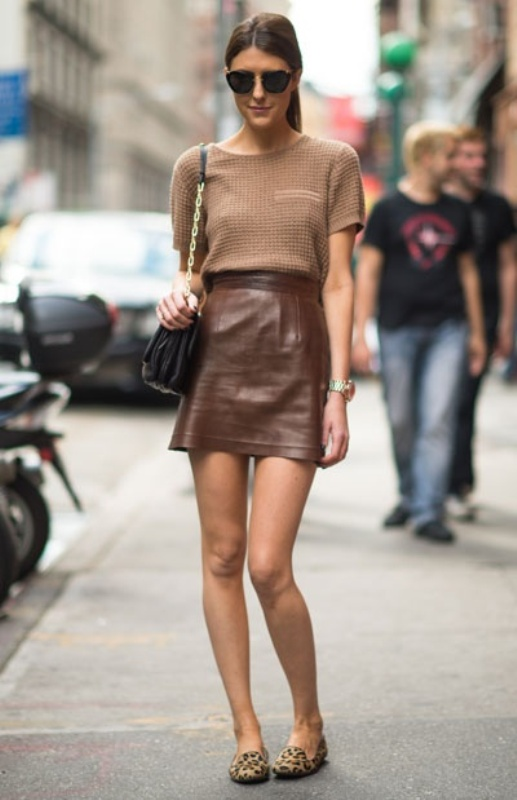 Picture Of how to wear leather skirt 23 great looks to get inspired  5