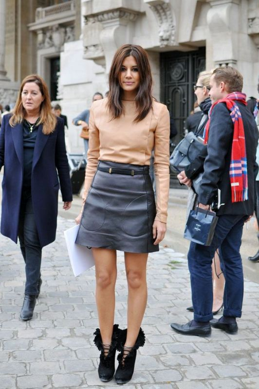 Picture Of how to wear leather skirt 23 great looks to get inspired  9