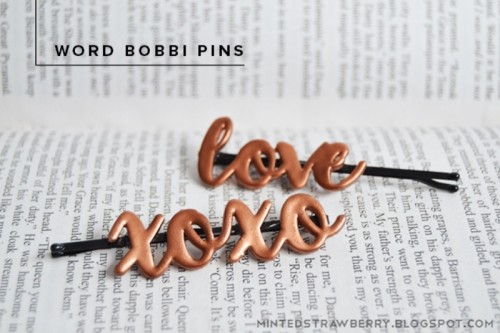 Impossibly Cute DIY Word Bobby Pins To Make