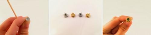 Industrial Inspired DIY Glitter Hexnut Earrings