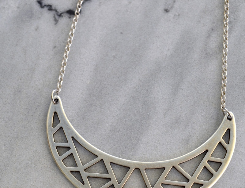 Picture Of long diy boho tassel moon necklace  4
