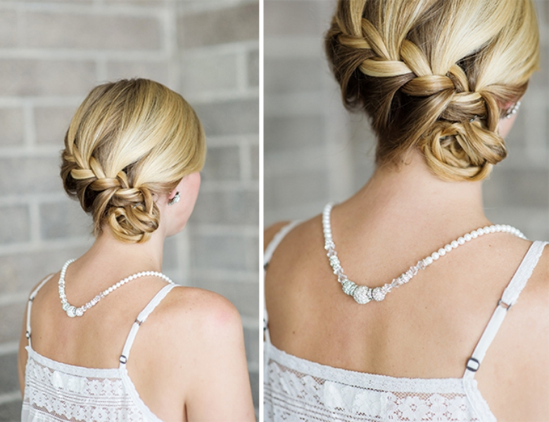 Picture Of lovely diy braided side bun for date nights  2