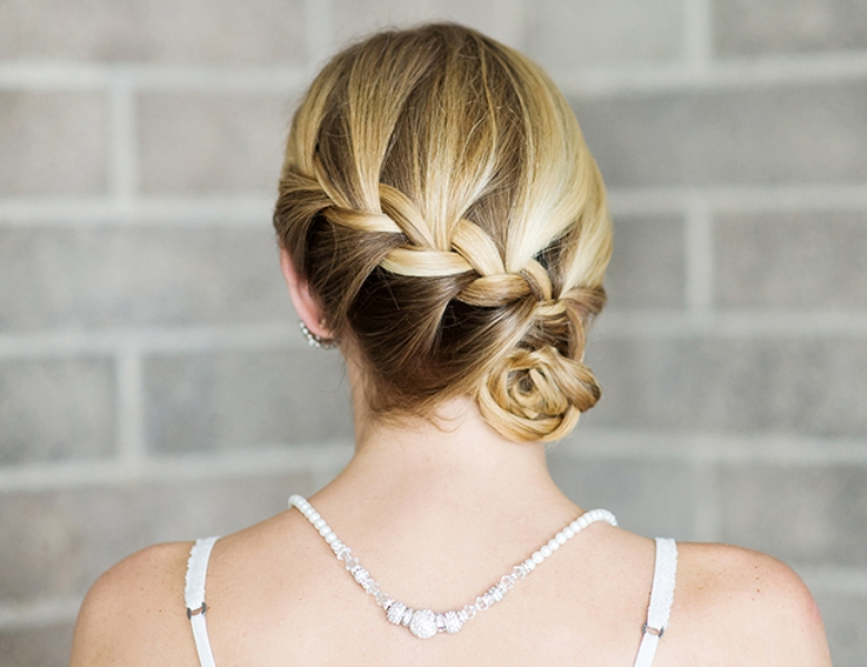 Picture Of lovely diy braided side bun for date nights  3