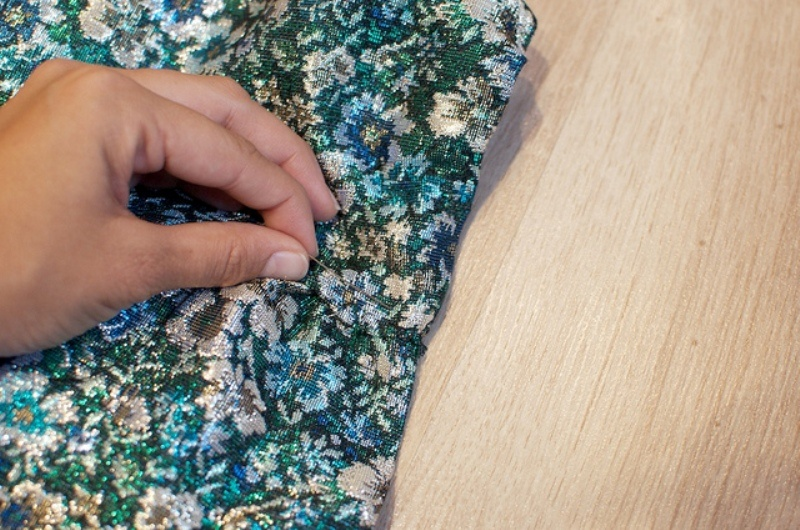 Picture Of lovely diy hand sewn brocade mini skirt for summer  9