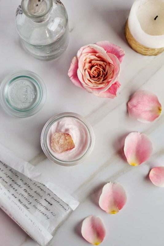 Picture Of lovely diy rose hibiscus whipped body butter  1