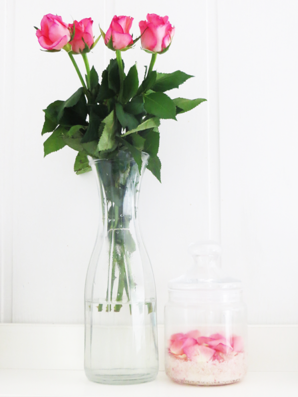 Picture Of lovely diy sugar body scrub with rose petals  1