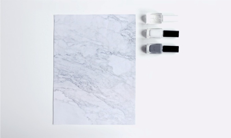 Picture Of luxurious diy marble manicure to try  2