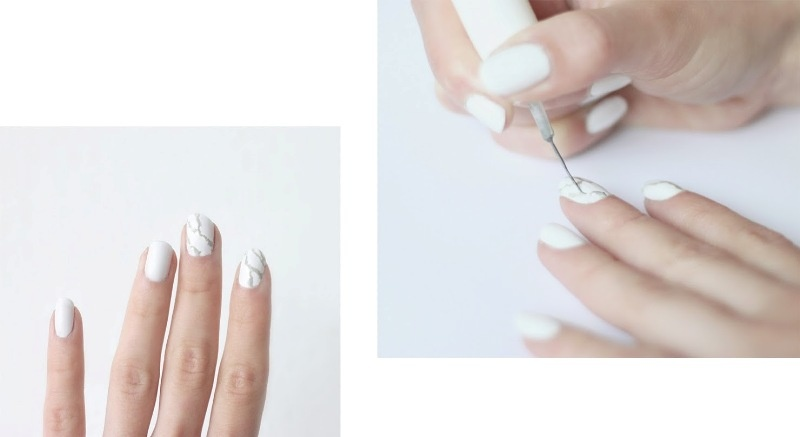 Picture Of luxurious diy marble manicure to try  3