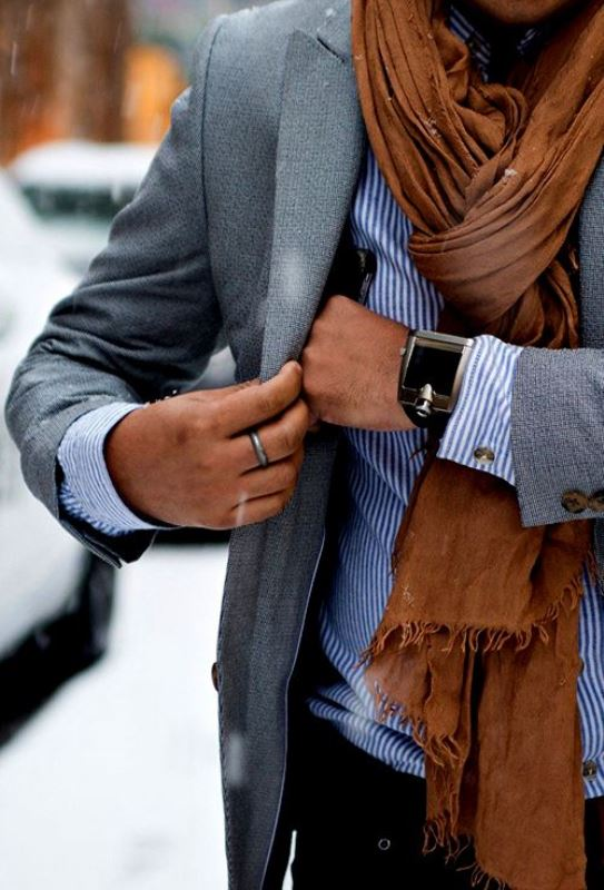 Picture Of men scarves inspiration 19 stylish fall looks to recreate  1