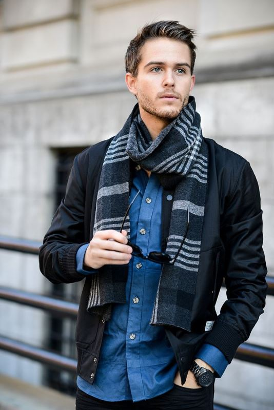 Picture Of men scarves inspiration 19 stylish fall looks to recreate  10