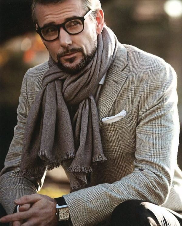 Picture Of men scarves inspiration 19 stylish fall looks to recreate  11