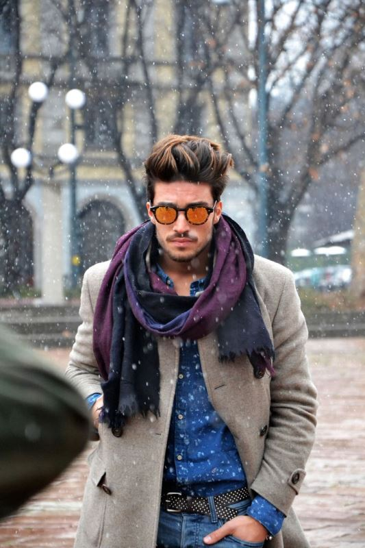 Picture Of men scarves inspiration 19 stylish fall looks to recreate  13