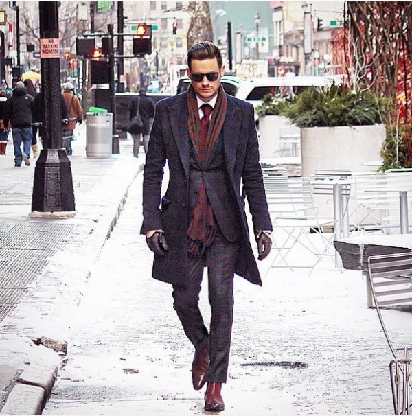Picture Of men scarves inspiration 19 stylish fall looks to recreate  17