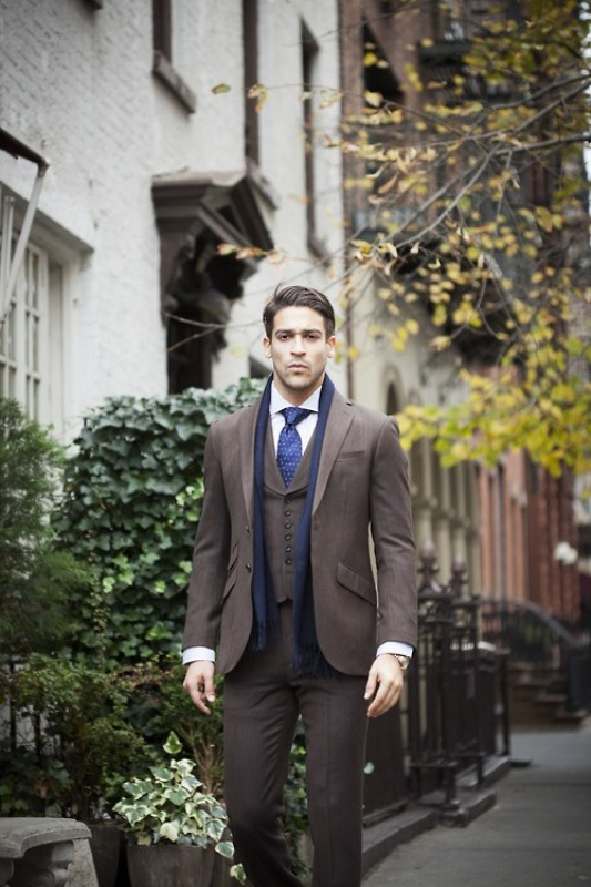 Picture Of men scarves inspiration 19 stylish fall looks to recreate  3