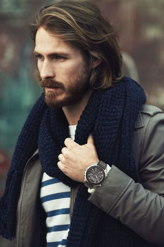 Picture Of men scarves inspiration 19 stylish fall looks to recreate  4