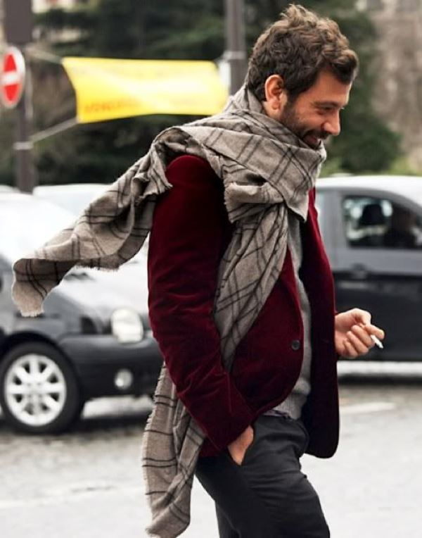 Picture Of men scarves inspiration 19 stylish fall looks to recreate  5