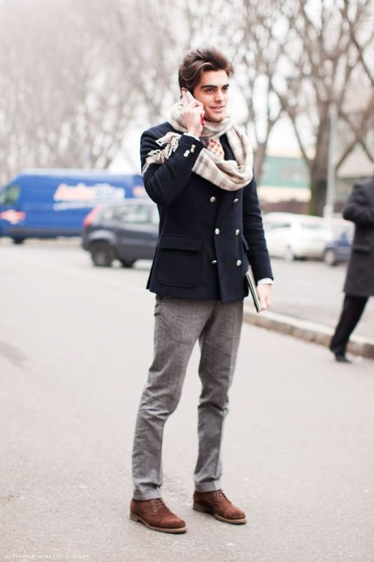 Picture Of men scarves inspiration 19 stylish fall looks to recreate  6