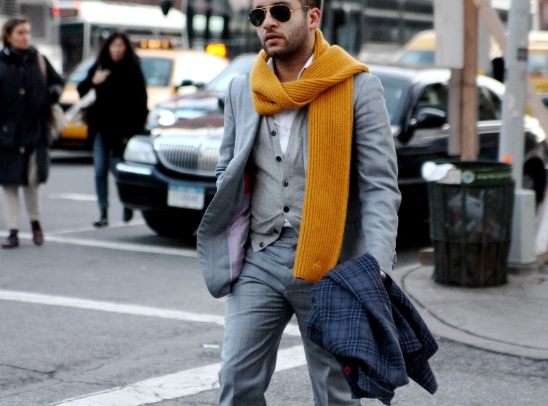 Picture Of men scarves inspiration 19 stylish fall looks to recreate  9