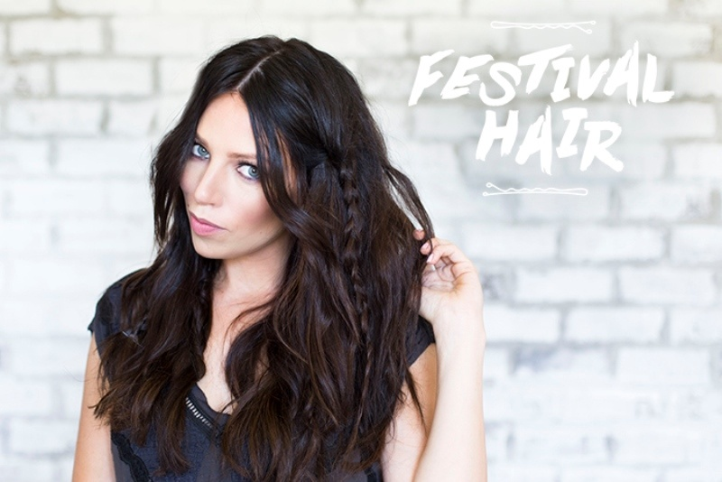 Picture Of messy braided diy festival hair to make  1