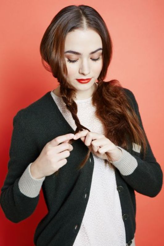 Picture Of messy yet sophisticated diy braid to wear under a hat  4