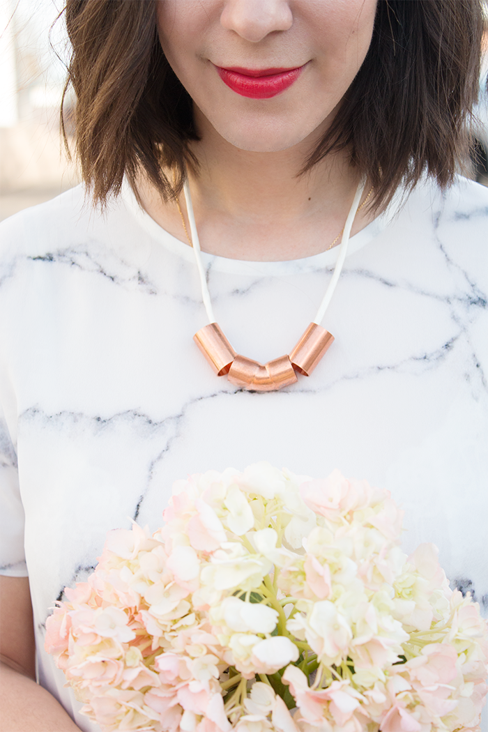 Picture Of minimalist diy necklace from copper piping  1