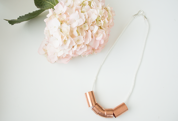 Picture Of minimalist diy necklace from copper piping  6