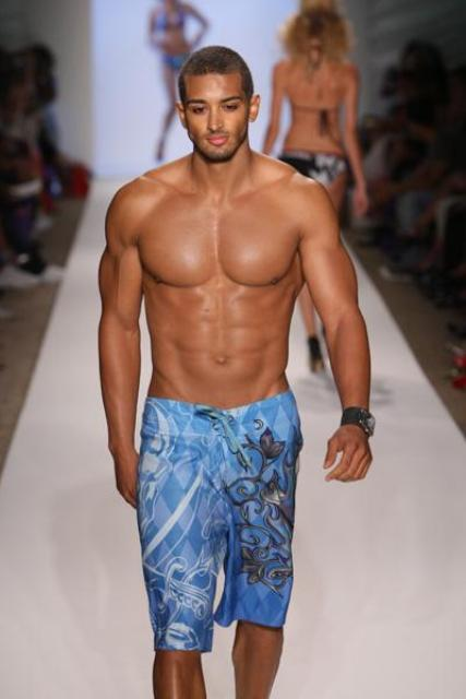 Picture Of modern and comfy long swim trunks for guys  11