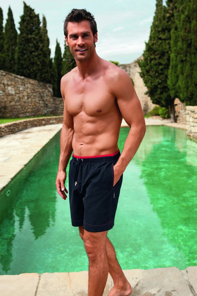 Picture Of modern and comfy long swim trunks for guys  12