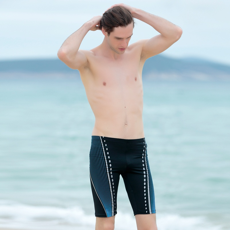 Picture Of modern and comfy long swim trunks for guys  15
