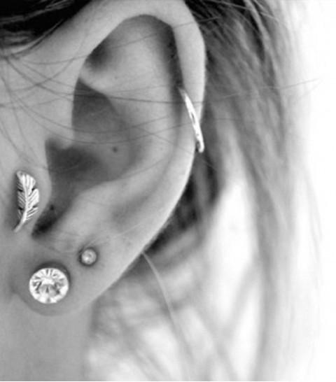 Picture Of multiple earrings ideas  5