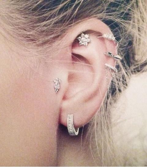 Picture Of multiple earrings ideas  9