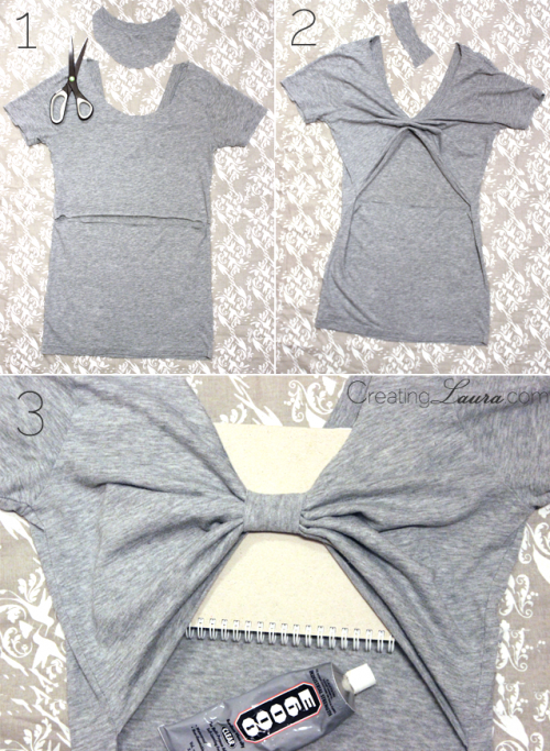 No Sew DIY Bow Back Top