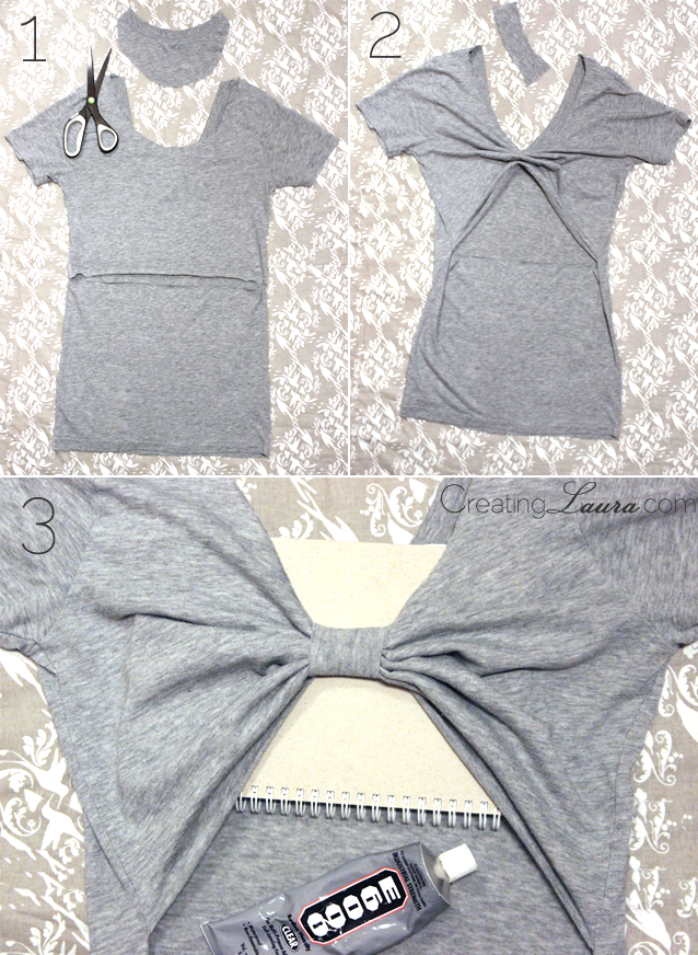 Picture Of no sew diy bow back top  3