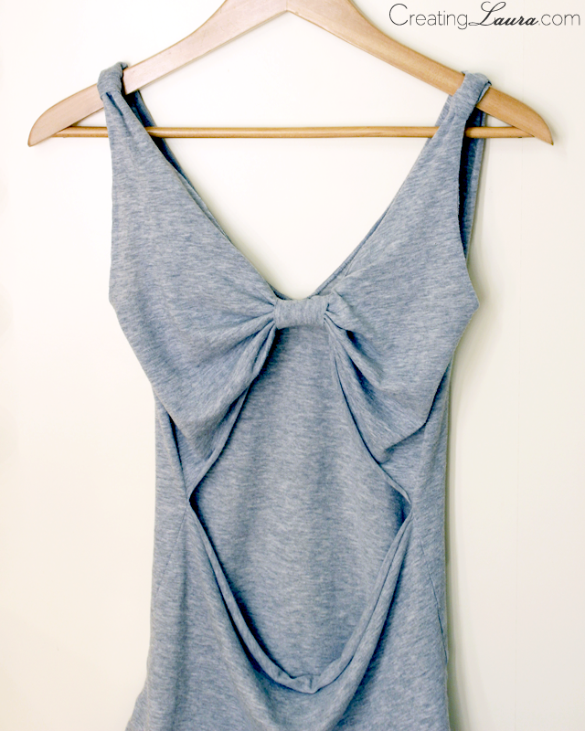 Picture Of no sew diy bow back top  5