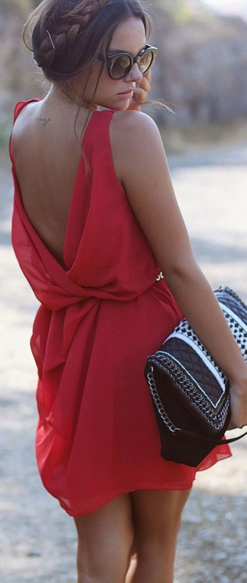 Making A Statement: 25 Open Back Dresses For Summer
