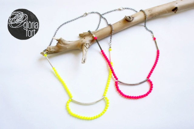 Picture Of original diy bold neon collar necklace  1