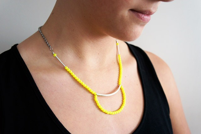 Picture Of original diy bold neon collar necklace  2