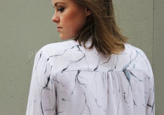 Picture Of original diy marble print shirt  7
