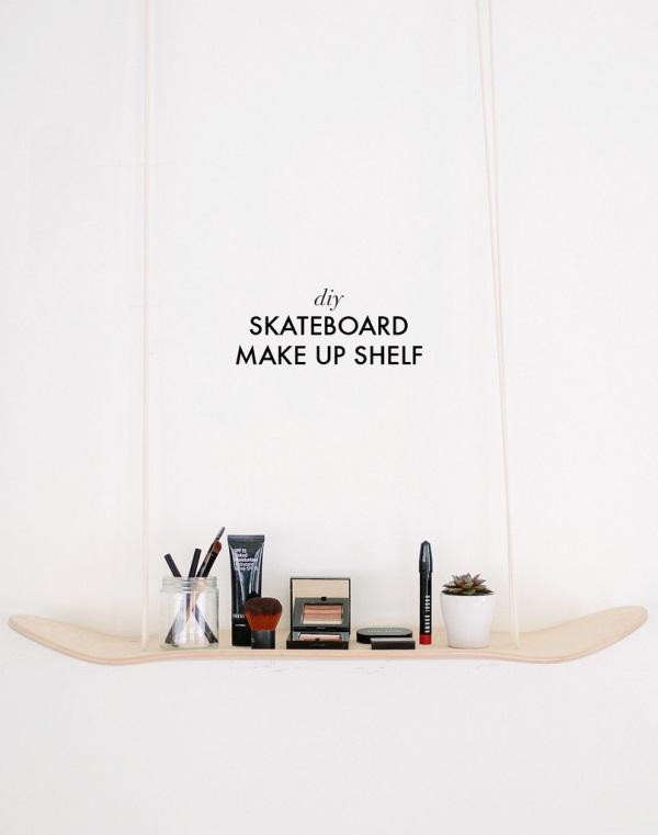Picture Of original diy skateboard makeup shelf  1
