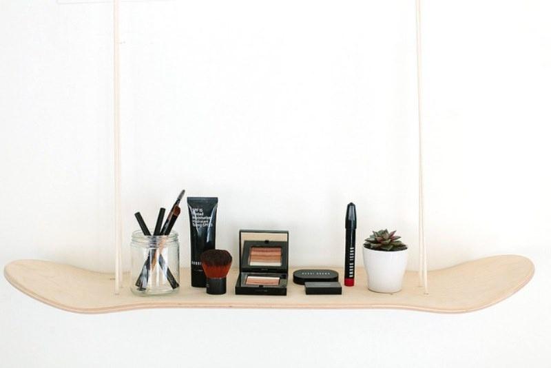 Picture Of original diy skateboard makeup shelf  3